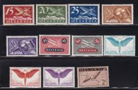 Top CH Briefmarken Lot Flugpost ab 1923