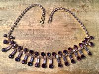 VINTAGES COLLIER GABLONZ STRASS,1960