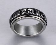 Bague rotative Mantra Om Mani Padme Hum