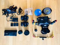 Underwater Sony DSLR camera set