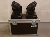 2x Stairville 50W LED Moving Head + Case