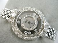 CHOPARD HAPPY DIAMOND 18K WG & DIAMANTEN