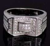 NEUF Silver NSCD DIAMANT silver ring