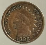 "AMERIKA 1 CENT 1898 ""INDIAN HEAD"""