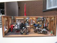 Harley Davidson Garage 1:12 mit Bar