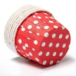 Cupcake-Form rot-weiss Polka dots -80760
