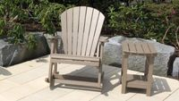 Adirondack-Rocker-Set aus PET beige
