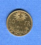 (2494) 10 Fr. 1911 Vreneli Top Stgl Gold
