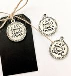 3 Charms silber familys love is forever