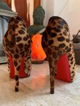 Original Louboutin Pony Hair Ankle Boots