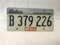 US-Nummernschild - Illinois