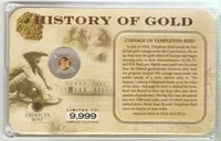 U.S. History of Gold: COINAGE OF... #015