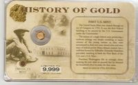 U.S. History of Gold: FIRST US MINT #017
