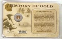 U.S. History of Gold: GOLD .... ACT #021