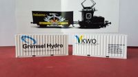 H0, 20ft. Containerset KWO/Grimselhydro