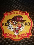 FDNY FIREFIGHTER PATCH - CORONA TIGERS