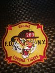 FDNY PATCH - ENGINE 289 - CORONA TIGERS