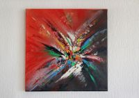 Abstract painting on canvas 40x40 cm