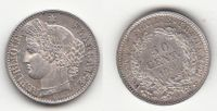 50 centimes 1850a france