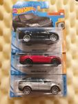 3x Hot Wheels Range Rover VELAR