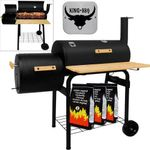 Chariot grill barbecue fumoir avec 2 sur