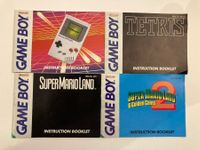 4 x Game Boy Classic (GB) Booklets