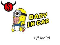 Baby in Car Minions - Aufkleber
