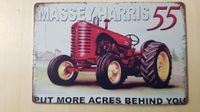 Massey Harris 55 Blechschild