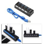 USB 3,0 HUB 4 Port Verteiler Splitter