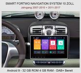 Smart ForTwo Autoradio 10 zoll Android