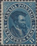 Canada 17 Pence Jacques Cartier 1859 obl