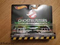 Ghostbusters Ecto 1 und Ecto 1A im Set