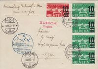 Brief 4. Int. Flugmeeting Zürich 1937
