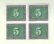 Timbres CH 1945 Zn. 262 bloc**