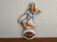 Emailschild HARLEY Pin Up Girl, Emaille