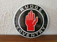 Emailschild RUDGE COVENTRY Logo, Emaille