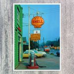 SHELL TANKSTELLE 50s Poster Repro A2