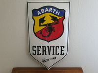 Grosses Emailschild FIAT Abarth, Italy