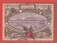 1896 GENEVE Exposition Nationale Suisse