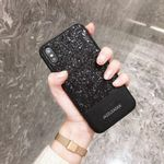 Bling  Glitzer Cover Hülle iPhone X Schw