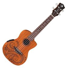 Ukulele Concert Electric Luna Tattoo