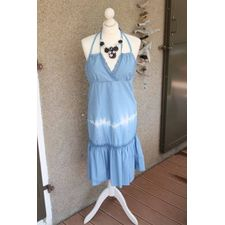 Robe bleu & broderies made in Italy NEW