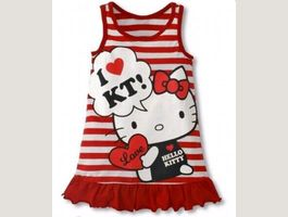Robe Hello Kitty Rouge Taille 80 à 120