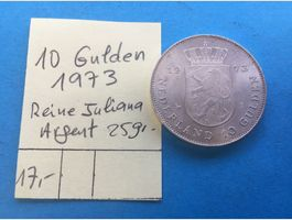 10 GULDEN 1973 - REINE JULIANA