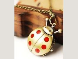 Pocket watch necklace COCCINELLE