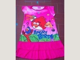ANGRY BIRDS : Robe S (~ 4-6 ans)
