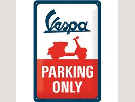 Blechschild 3D-VESPA-PARKING ONLY