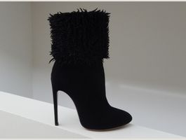 Orig. ALAIA fringed Suede Ankle Boots