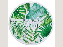 Strandtuch Roundie - Tropical Forest