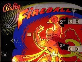 Bally Fireball Flipperkasten Multiball..